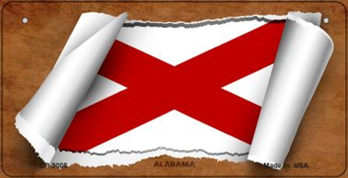 Alabama Flag Scroll Wholesale Novelty Bicycle Plate BP-9008
