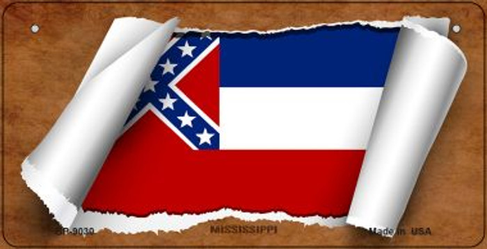 Mississippi Flag Wholesale Novelty Parking Sign P-2338