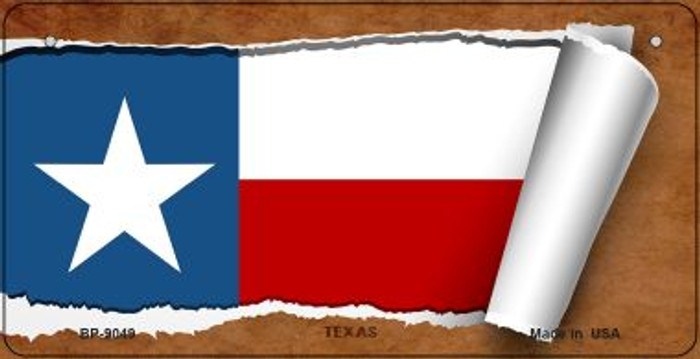 Texas Flag Scroll Wholesale Novelty Bicycle Plate BP-9049