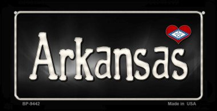 Arkansas Flag Script  Wholesale Novelty Bicycle Plate BP-9442