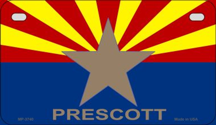 Prescott Arizona Flag Wholesale Novelty Motorcycle Plate MP-3740