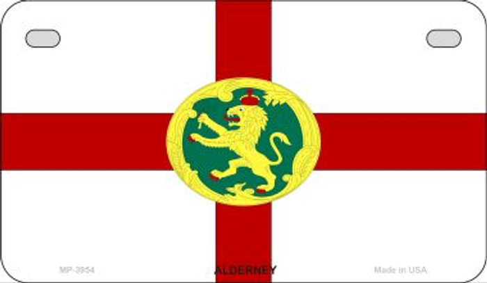 Alderney Flag Wholesale Novelty Motorcycle Plate MP-3954