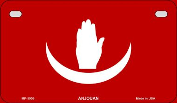 Anjouan Flag Wholesale Novelty Motorcycle Plate MP-3959