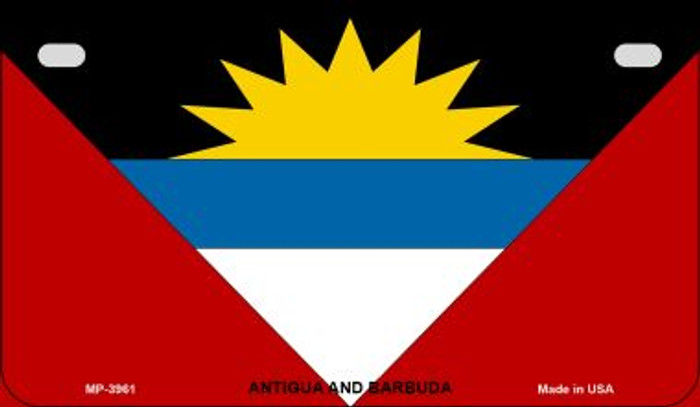 Antigua & Barbuda Flag Wholesale Novelty Motorcycle Plate MP-3961