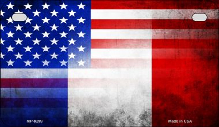 American / France Flag Wholesale Novelty Motorcycle Plate MP-8299