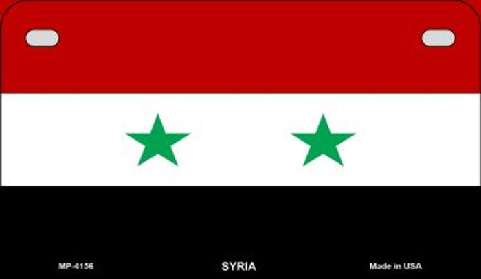 Syria Flag Wholesale Novelty Motorcycle Plate MP-4156
