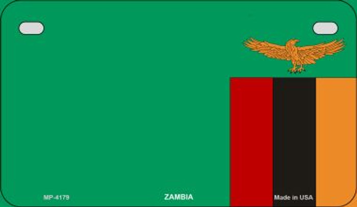 Zambia Flag Wholesale Novelty Bicycle Plate BP-4179