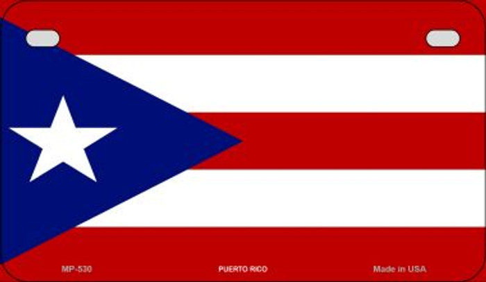Puerto Rico Flag Wholesale Novelty Motorcycle Plate MP-530