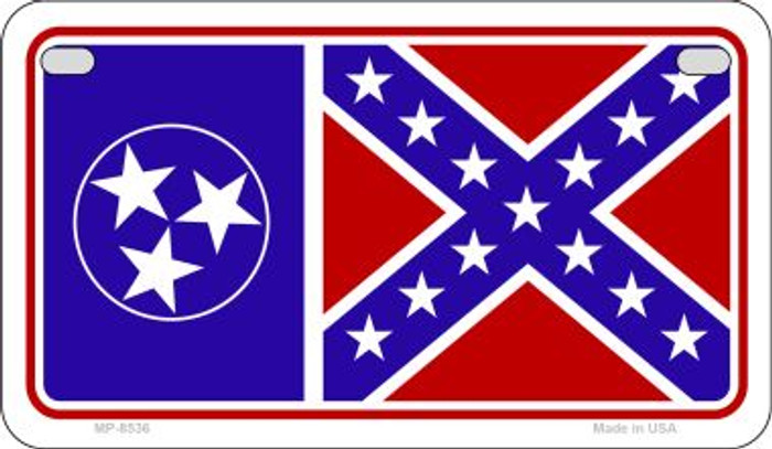 Tenn / Confederate Flag Wholesale Novelty Motorcycle Plate MP-8536