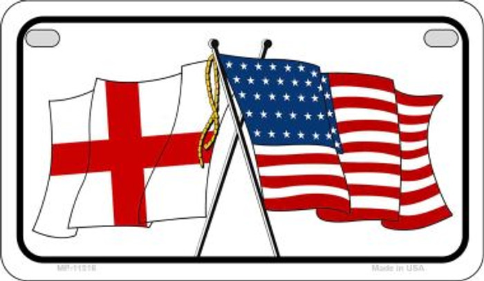 England / USA Flag Wholesale Novelty Motorcycle Plate MP-11516