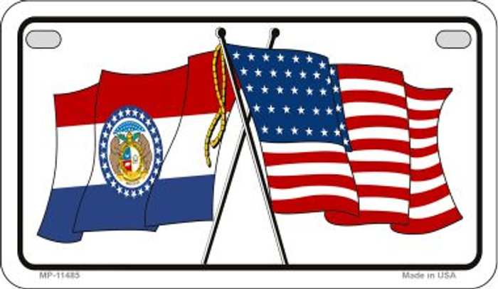 Missouri / USA Flag Wholesale Novelty Motorcycle Plate MP-11485