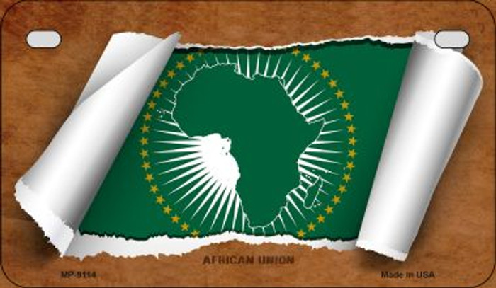 Africa Union Flag Scroll Wholesale Novelty Motorcycle Plate MP-9114