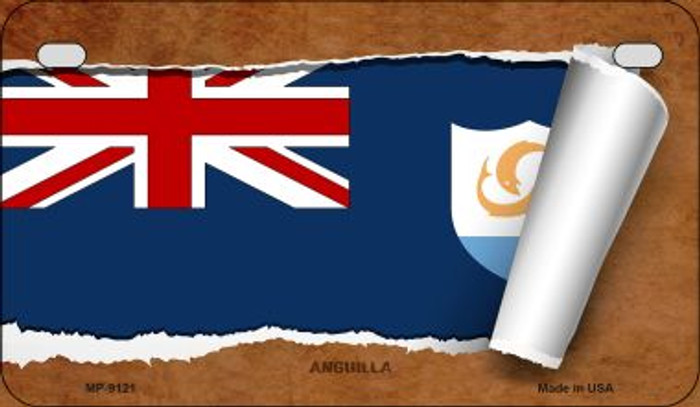 Anguilla Flag Scroll Wholesale Novelty Motorcycle Plate MP-9121