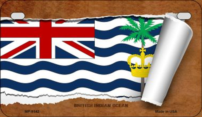 British Indian Ocean Flag Scroll Wholesale Novelty Motorcycle Plate MP-9142