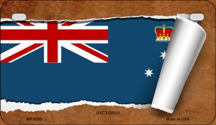 Victoria Flag Scroll Wholesale Novelty Motorcycle Plate MP-9333