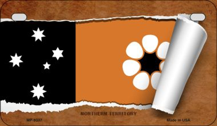 Northern Territory Flag Scroll Wholesale Novelty Motorcycle Plate MP-9337