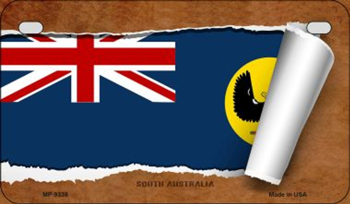 South Australia Flag Scroll Wholesale Novelty Motorcycle Plate MP-9338