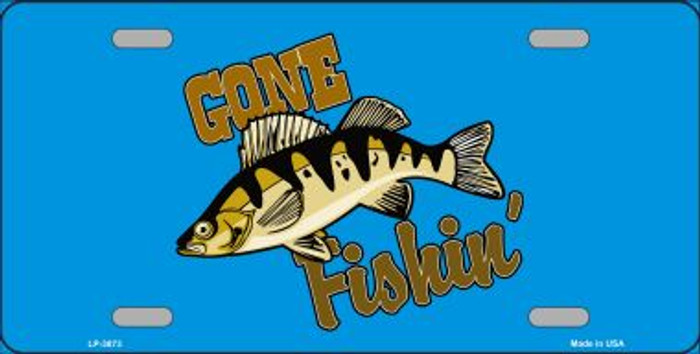 Gone Fishin Wholesale Metal Novelty License Plate LP-3873