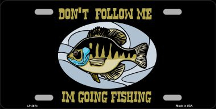 Don't Follow Me Wholesale Metal Novelty License Plate LP-3874