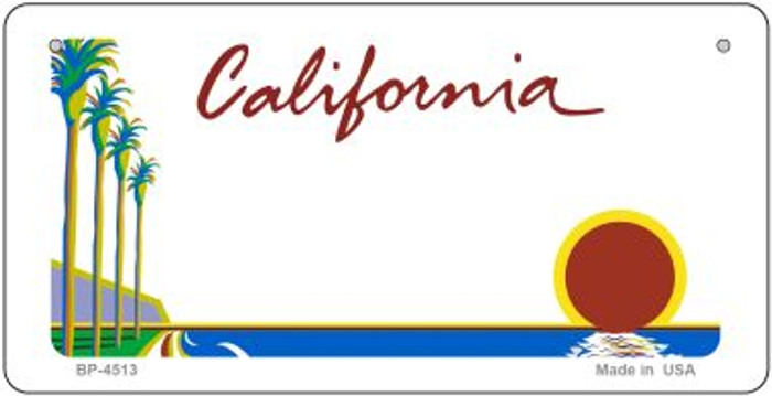 California Blank Background Wholesale Novelty Bicycle Plate BP-4513