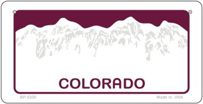 Colorado Blank Background Wholesale Novelty Bicycle Plate BP-5330