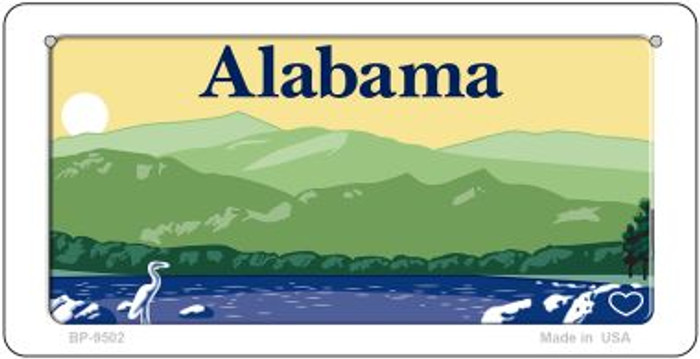 Alabama Blank Background Wholesale Novelty Bicycle Plate BP-9502