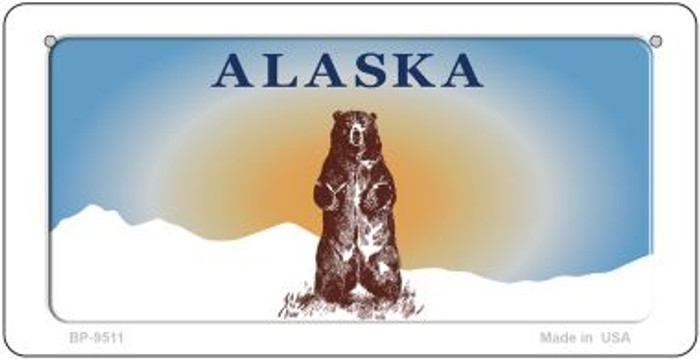 Alaska Bear Blank Background Wholesale Novelty Bicycle Plate BP-9511