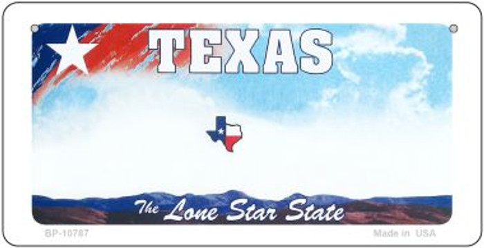 Texas Blank Background Wholesale Novelty Bicycle Plate BP-10787