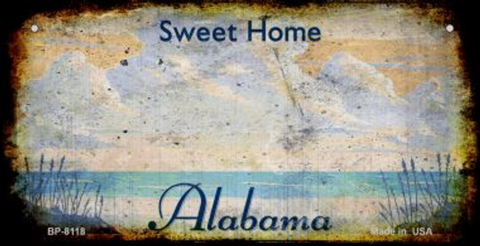 Alabama Rusty Blank Background Wholesale Novelty Bicycle Plate BP-8118