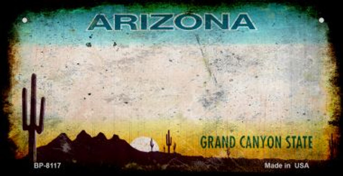 Arizona Rusty Blank Background Wholesale Novelty Bicycle Plate BP-8117