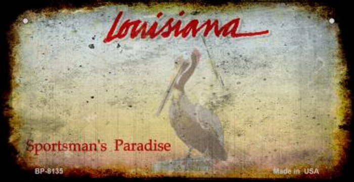 Louisiana Rusty Blank Background Wholesale Novelty Bicycle Plate BP-8135