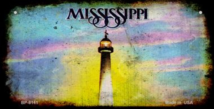 Mississippi Rusty Blank Background Wholesale Novelty Bicycle Plate BP-8141