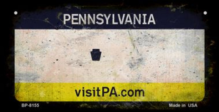 Pennsylvania Rusty Blank Background Wholesale Novelty Bicycle Plate BP-8155