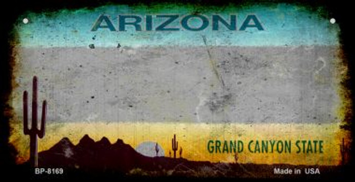 Arizona Grey Rusty Blank Background Wholesale Novelty Bicycle Plate BP-8169