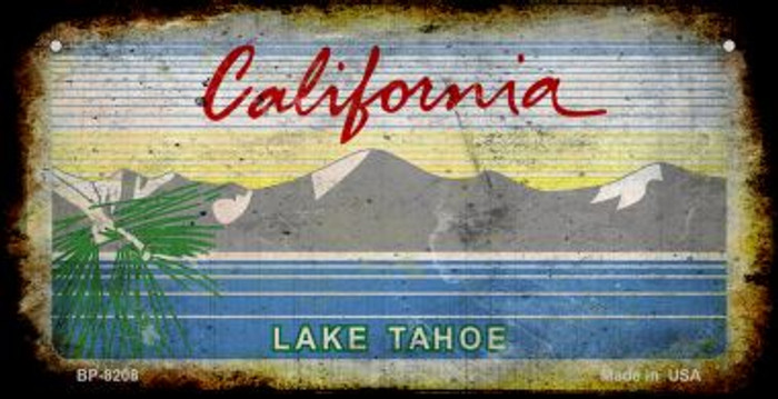 California Lake Tahoe Rusty Blank Background Wholesale Novelty Bicycle Plate BP-8208