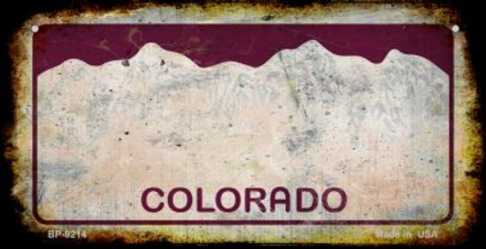 Colorado Rusty Blank Background Wholesale Novelty Bicycle Plate BP-8214