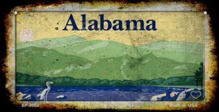 Alabama Rusty Blank Background Wholesale Novelty Bicycle Plate BP-9503