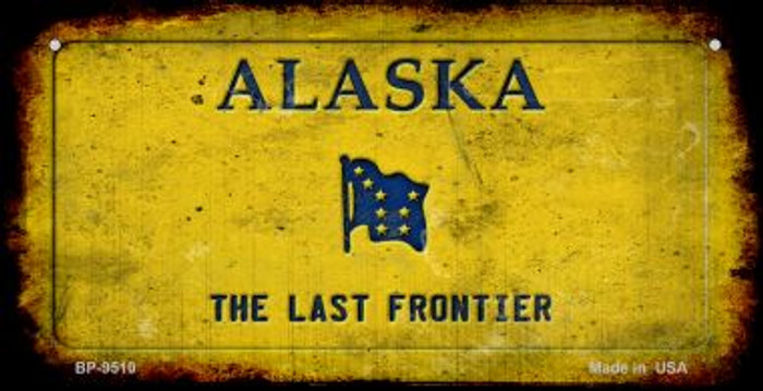 Alaska Rusty Blank Background Wholesale Novelty Bicycle Plate BP-9510