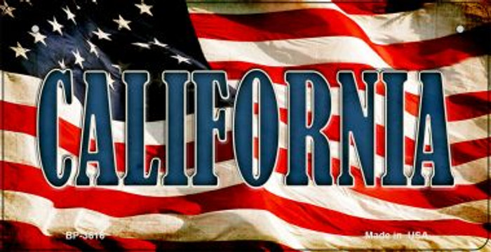 California US Flag Wholesale Novelty Bicycle Plate BP-3616