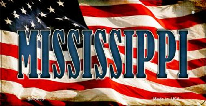Mississippi US Flag Wholesale Novelty Bicycle Plate BP-3635