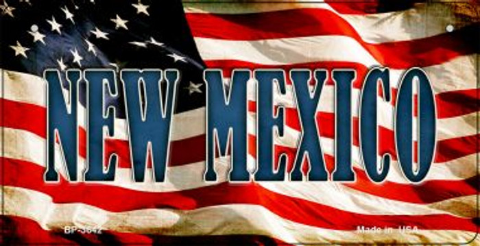 New Mexico US Flag Wholesale Novelty Bicycle Plate BP-3642