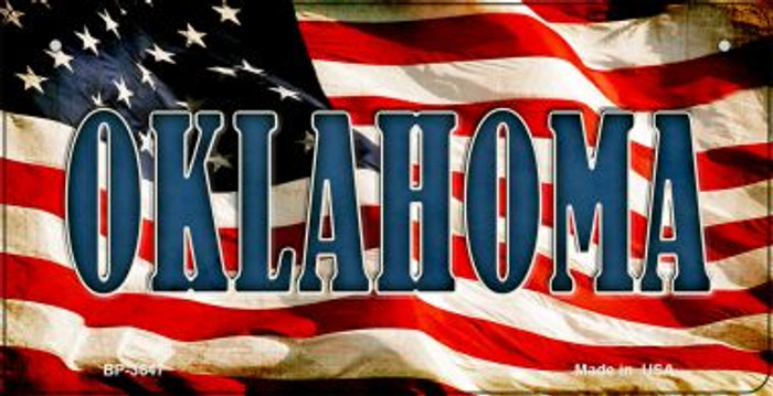 Oklahoma US Flag Wholesale Novelty Bicycle Plate BP-3647