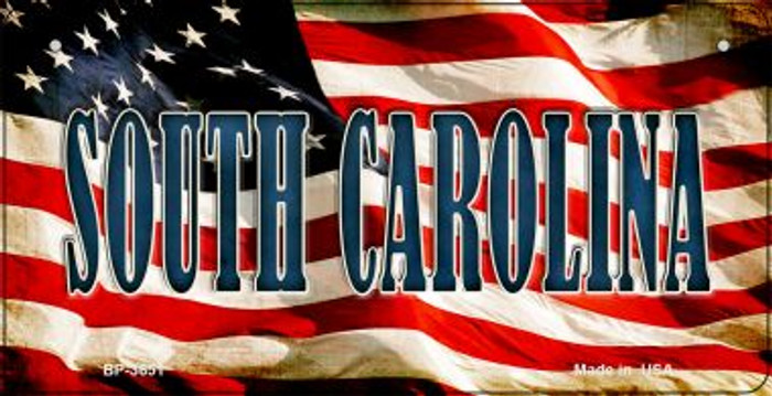 South Carolina US Flag Wholesale Novelty Bicycle Plate BP-3651