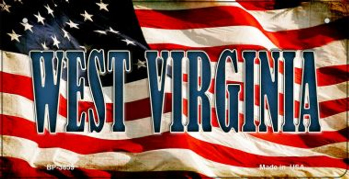 West Virginia US Flag Wholesale Novelty Bicycle Plate BP-3659