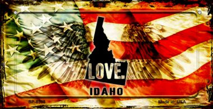 Idaho Love & Wings Wholesale Novelty Bicycle Plate BP-8598