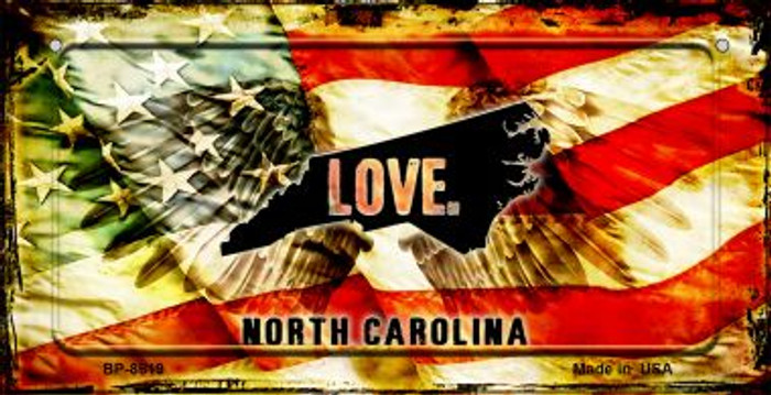 North Carolina Love & Wings Wholesale Novelty Bicycle Plate BP-8619