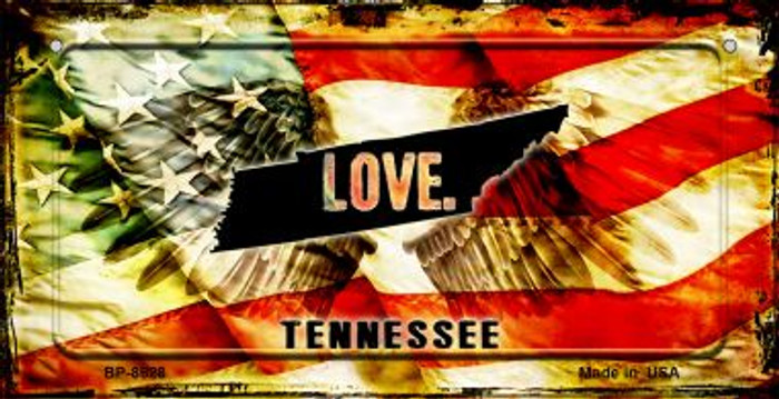 Tennessee Love & Wings Wholesale Novelty Bicycle Plate BP-8628