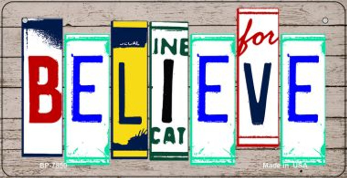 Believe Plate Art Wholesale Novelty Bicycle Plate BP-7850