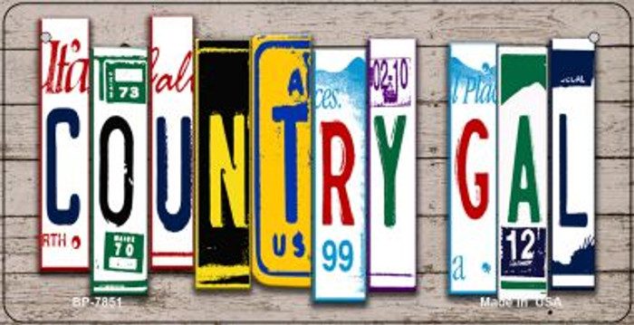 Country Girl Plate Art Wholesale Novelty Bicycle Plate BP-7851