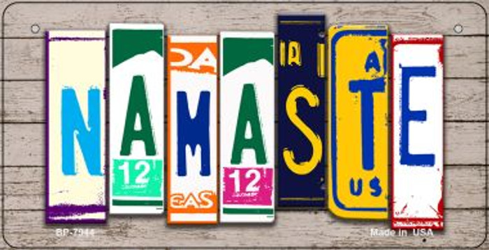 Namaste Plate Art Wholesale Novelty Bicycle Plate BP-7944